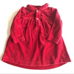 Ralph Lauren Red Velvet Baby Dress Christmas SZ 9M